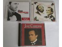 SMALL JOB LOT 3 JOSE CARRERAS CD ALBUMS