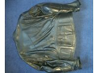 Mens Teknic Motorbike Jacket Black Leather Size 46 £30 ONO