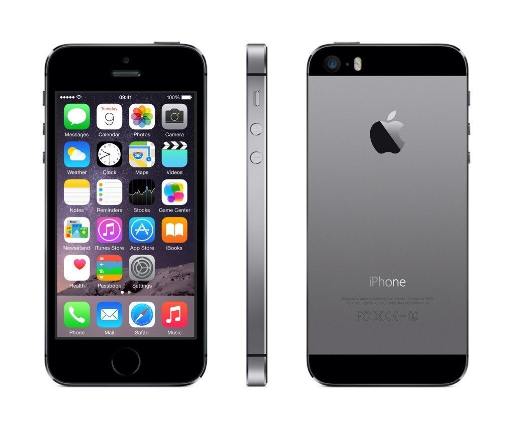 new apple iphone 5s 32gb space grey factory unlocked a1457. Black Bedroom Furniture Sets. Home Design Ideas