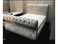 BRAND NEW SLEIGH CHESTERFIELD BED 3FT4,6FT 5 FT 6FT
