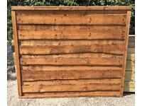 🌻Pressure Treated Brown Wayneylap Wooden Garden Fence Panels