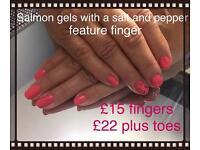 Gelish gel nails 40 plus colours
