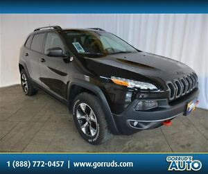 2015 Jeep Cherokee TRAILHAWK 4X4, V6, LEATHER, NAVIGATION