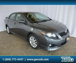 2010 Toyota Corolla S/SPORT PACKAGE/POWER SUNROOF/ALLOY RIMS
