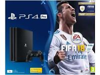PS4 Pro 1Tb with Fifa 18