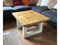 Contemporary - modern design coffee table in oak and cream