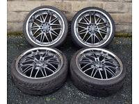 "18"" Alloy wheels tyres 5x100 5x112 subaru impreza classic VW Beetle Polo Caddy"