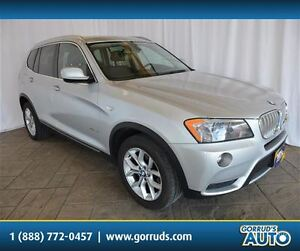 2011 BMW X3 28i/AWD/HEATED LEATHER SEATS/PANORAMIC ROOF