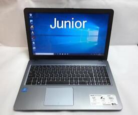 New & Boxed Asus 1TB, 8GB QuadCore HD Laptop, Slimline, Win 10, HDMI, Microsoft office, Ideal Gift