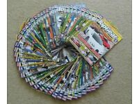 FULL SET OF 52 TOP GEAR TURBO CHALLENGE MAGAZINES - MOSTLY UNREAD