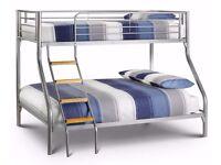 🔵⚫50 % off 🔵⚫=Pay On Your Door Trio Sleeper Metal bunk bed + memory foam mattress