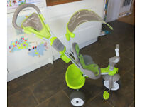 Smoby Trike Green used but in excellent condition. Comes with instructions