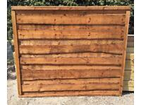 🚨Brown Wayneylap Fence Panels > Excellent Quality < Pressure Treated > Heavy Duty