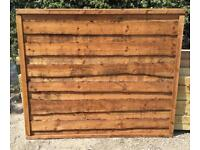 🌈 High Quality Heavy Duty Brown Tanalised Waneylap Wooden Garden Fence Panels