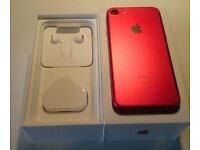 3 days old apple iphone 7 256gb special edition in red