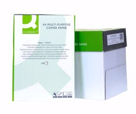 Q-CONNECT A4 MULTI-PURPOSE COPIER PAPER 80gsm - 1 BOX - 5 REAMS x 500 SHEETS - Many boxes available