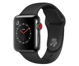Brand new Apple Watch series 3 Black 42mm GPS and CELLULAR