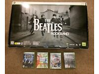 The Beatles Rock Band + Extra Guitar + 3 Rock Band Games for Xbox 360