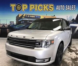 2016 Ford Flex SEL, LEATHER, PANORAMIC SUNROOF, NAVIGATION, 20 W