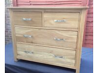 Solid Oak Chest Of Drawers, Unused !