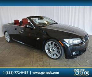 2011 BMW 335i is CONVERTIBLE/CORAL RED LEATHER INTERIOR/HARD TOP