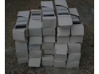 x 27 boxes of striped border tiles grey black & white