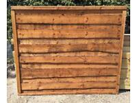 💫New Brown Wayneylap Fence Panels > Excellent Quality < Pressure Treated > Heavy Duty