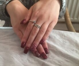 Acrylic nail extensions enhancements acrylics gel polish nail nails