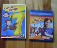 DVD/Blu-ray (Curious George, Saige Paints the Sky)