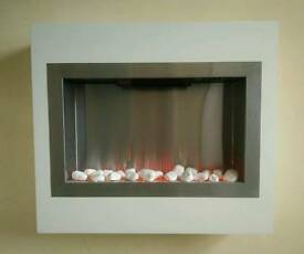 Beautiful modern electric fireplace heater