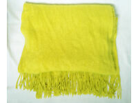 Topshop Spring Green Knit Scarf With Tassels