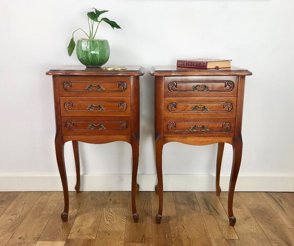 Pair of bedside tables french vintage 674 in tower hamlets pair of bedside tables french vintage 674 watchthetrailerfo