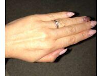 18k white gold diamond ring & Sapphire eternity ring in 18k white gold