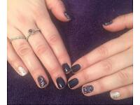 Shellac, semi permanent lashes, waxing , pedicure , tinting