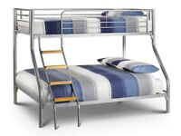 CHEAPEST PRICE GUARANTEED - BRAND NEW TRIO METAL BUNK BED WITH MATTRESSES - SAME DAY DELIVERY