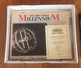 The Times Newspaper 1st January 2000 Millenium Edition. A rare piece of history