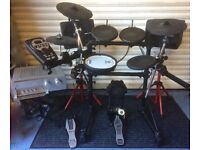 Roland TD11 set up, complete with Sony amp and pair of Celestial Speakers.