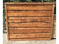 👑New Brown Wayneylap Fence Panels > Excellent Quality < New >