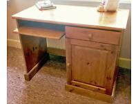 Solid Pine Desk Table - Furlong Pine Ringwood - Perfect for Office