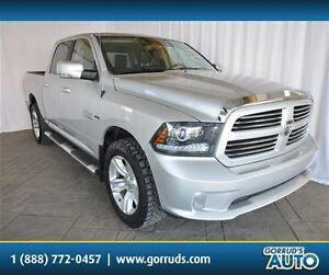 2014 Dodge Ram 1500 SPORT/CREW/4X4/5.7 HEMI/NAV/LEATHER/ALLOY RI