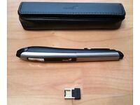 Pen Mouse, Genius Wireless Optical Pen Mouse PC Laptop Netbook Graphic 2.4Ghz 1200dpi, Travel Pouch