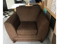 Large Brown comfy Armchair