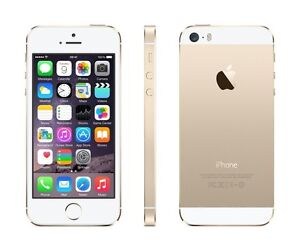 iPhone 5s, 16GB, white and gold