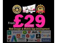 Quality Web design & Development From £87