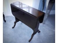 SMALL VINTAGE DROP LEAF OCCASIONAL TABLE – STRONGBOW FURNITURE