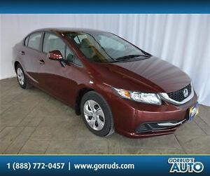 2013 Honda Civic LX/ONLY 33,000KMS!!/BLUETOOTH/HEATED SEATS