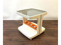 Retro Vintage Drink Trolley Side Table Mid Century Design Space Age 1970s