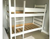 Warren Evans White Solid Wood Bunk Bed Good Condition Delivery Possible