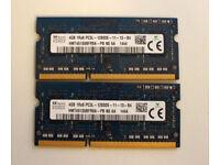 Hynix 8GB (2x4GB) 1600MHz DDR3 SO DIMM RAM