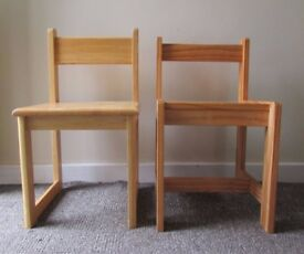 Set of 2 Kids wooden chairs  children play chairs  Solid wood  class roomVintage Wooden table sewing box style old school desk small  . Old Dining Chairs Leicester. Home Design Ideas